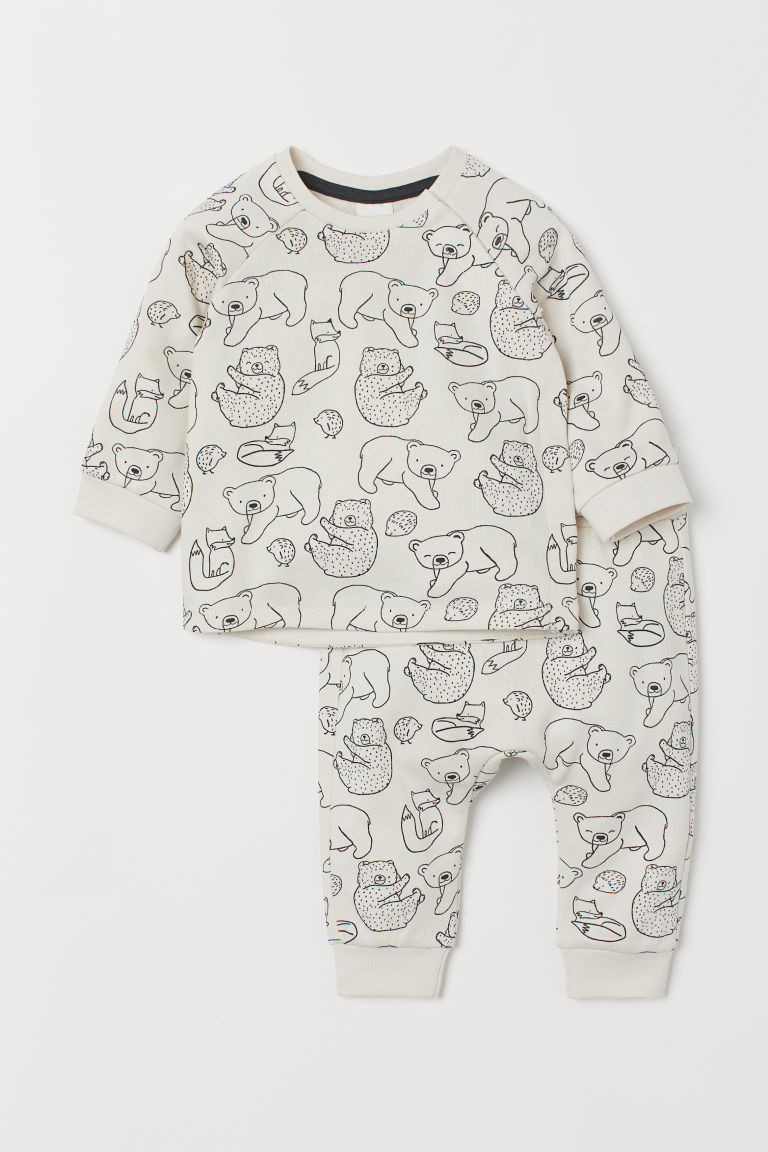 トップス&パンツ - Natural white/Bears - Kids | H&M JP