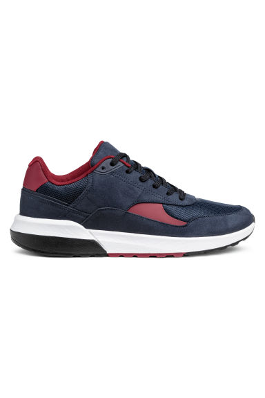Mesh trainers - Dark blue/Red -  | H&M