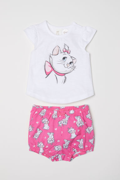 Top and puff pants - Pink/Aristocats - Kids | H&M