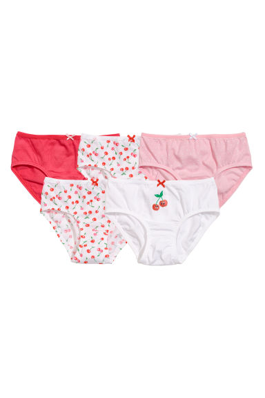 5-pack briefs - Bright red/Cherries -  | H&M
