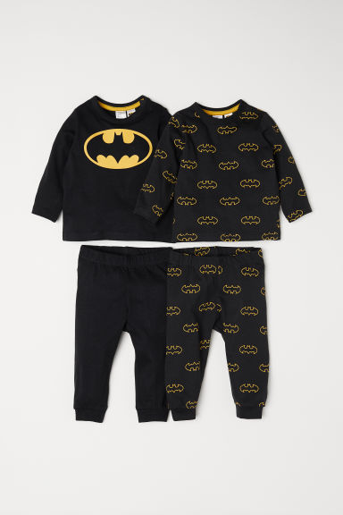 2-pack jersey pyjamas - Black/Batman - Kids | H&M CN