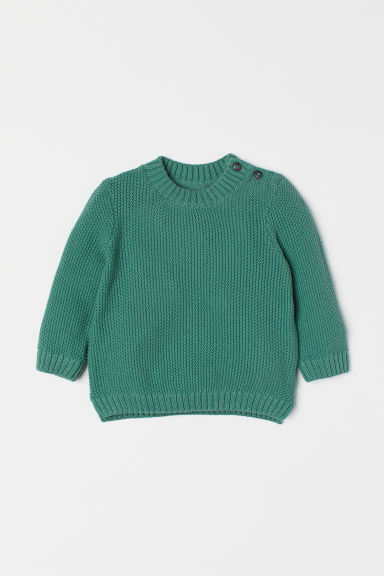 Knitted jumper - Green -  | H&M CN