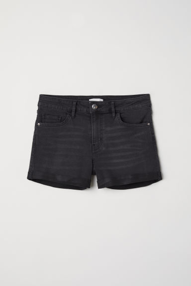 Denim shorts - Dark grey denim - Ladies | H&M CN