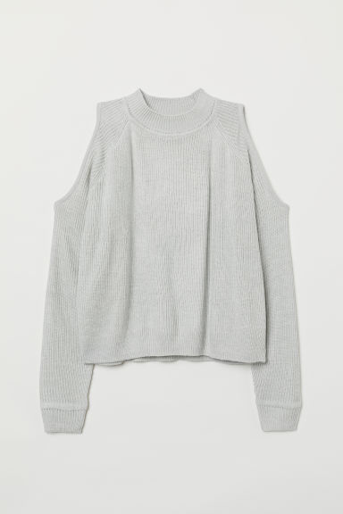 Cold-shouldertrui - Lichtgrijs -  | H&M BE