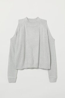 Sweter cold shoulder
