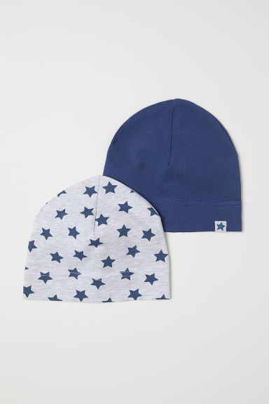 2-pack jersey hats - Light grey marl/Stars - Kids | H&M CN