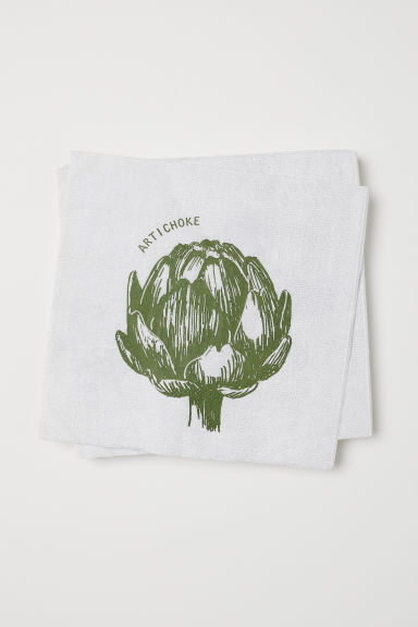 纸巾 - 白色/Artichoke - Home All | H&M CN