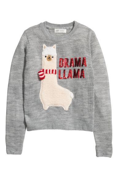 1327c3334c74 Fine-knit Sweater - Gray/llama - Kids | H&M CA