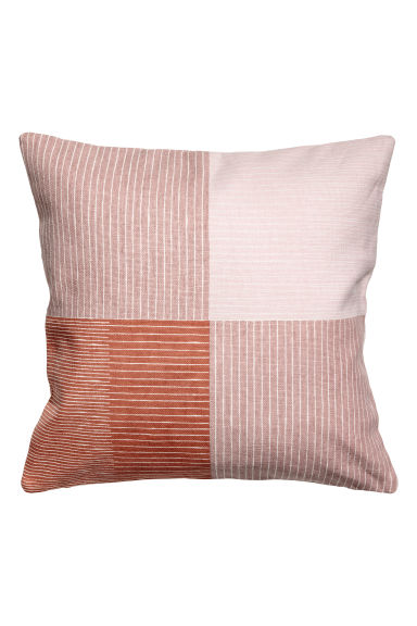 Patterned cushion cover - Old rose/Rust -  | H&M CN