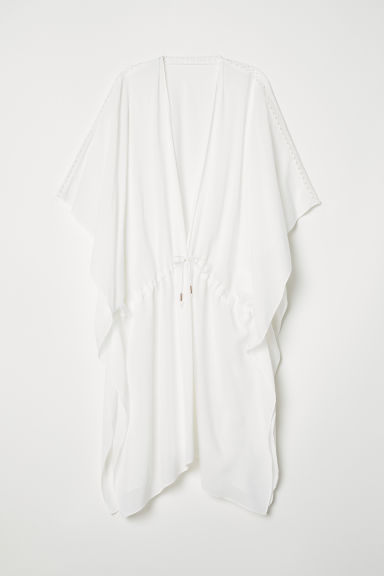 Viscose poncho - Natural white - Ladies | H&M