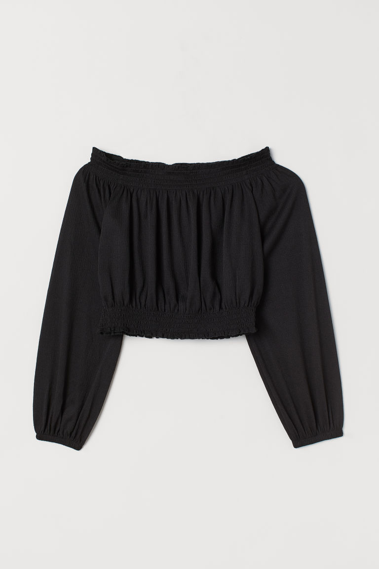 Off-the-shoulder Top - Black -  | H&M US