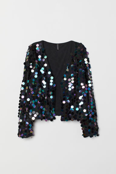 Jacket with sequins - Black -  | H&M