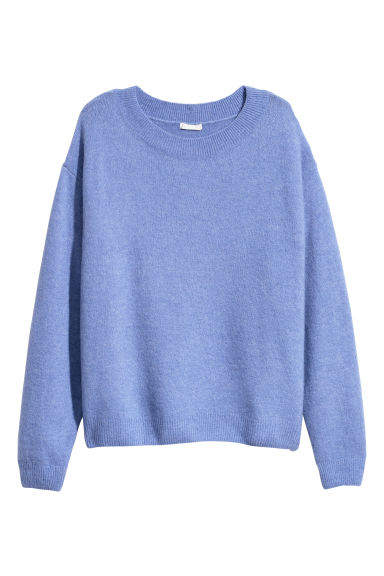 Fine-knit jumper - Purple marl - Ladies | H&M CN