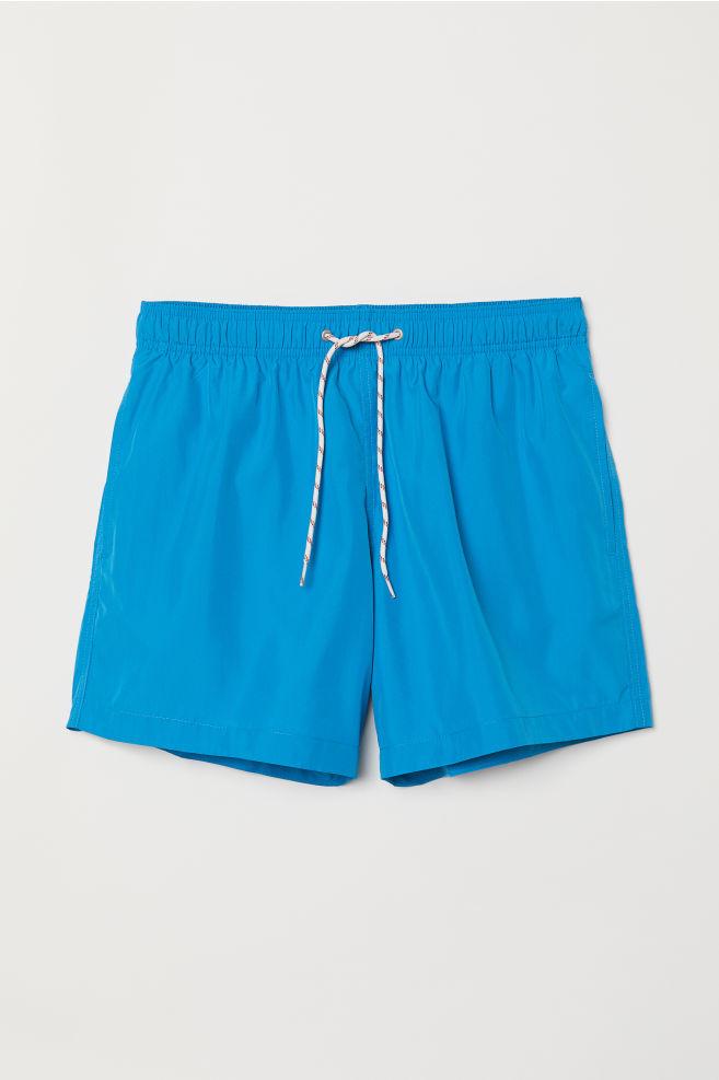 Zwembroek Blauw Heren.Zwemshort Blauw Heren H M Nl