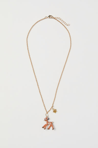 Necklace with a pendant - Gold-coloured/Bambi - Kids | H&M