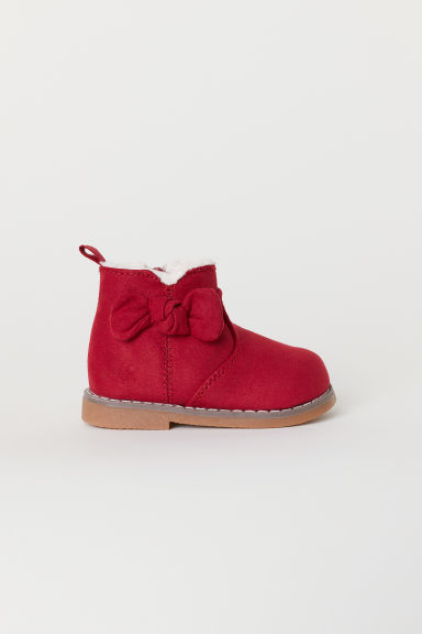 Warm-lined boots - Red -  | H&M