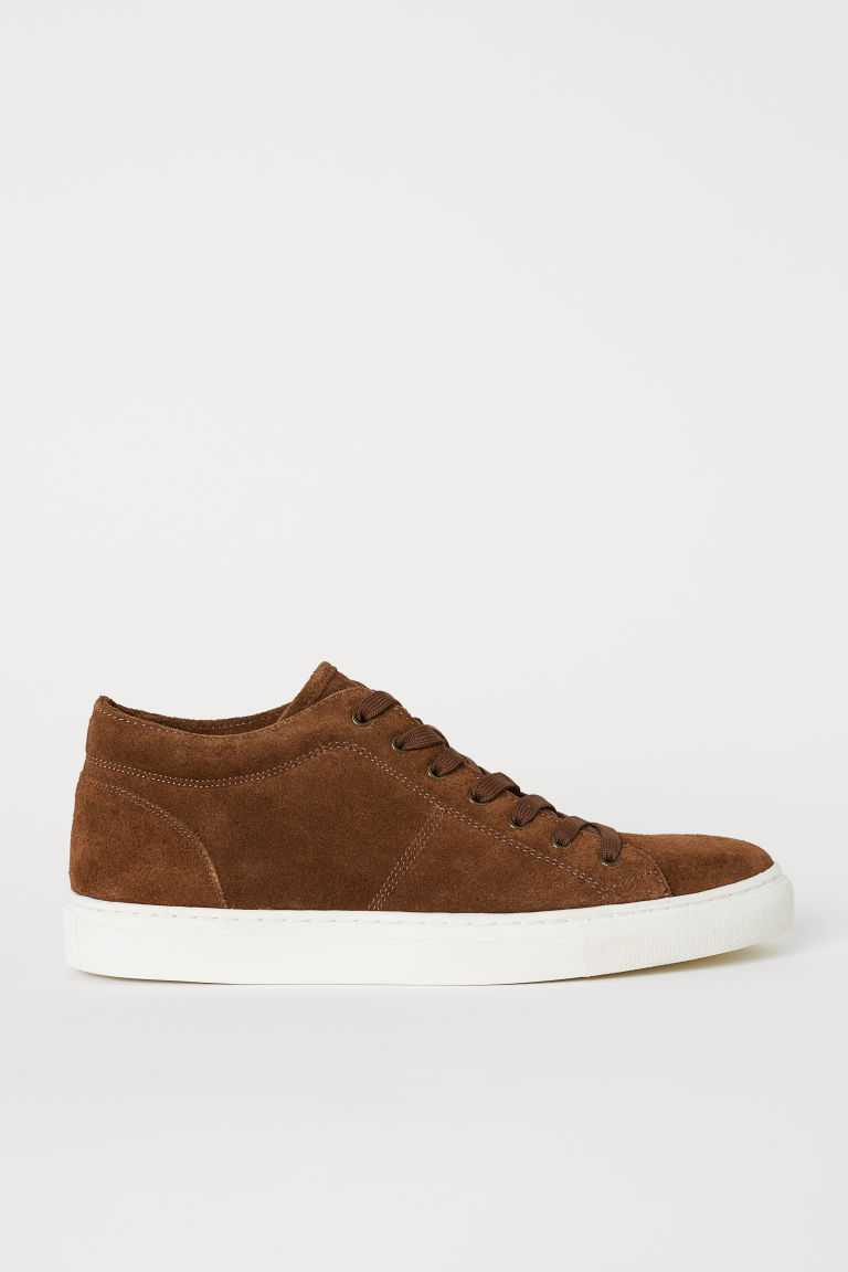 Sneakers scamosciate - Marrone - UOMO | H&M IT
