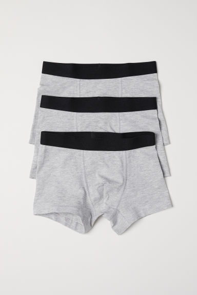 3-pack boxer shorts - Grey marl - Kids | H&M