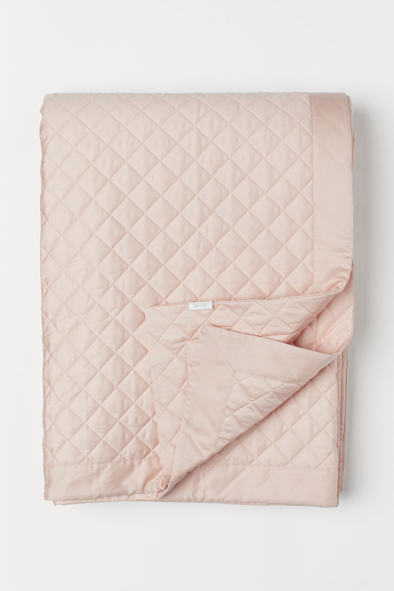 Quilted bedspread - Powder pink - Home All | H&M CN