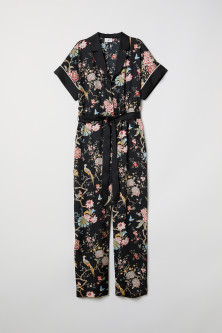 Patterned jumpsuitModel