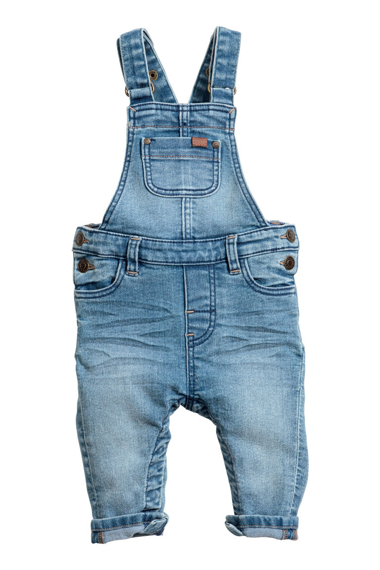 Denim dungarees - Light denim blue - Kids | H&M GB