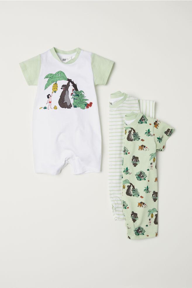 3 Pack Jersey Pyjamas Light Green Jungle Book Kids H M Gb