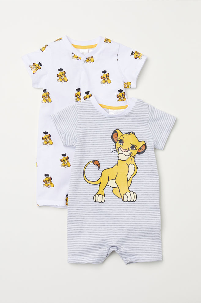 9e7a2bc18 2-pack all-in-one pyjamas - Light grey/Lion King - Kids | H&M IE