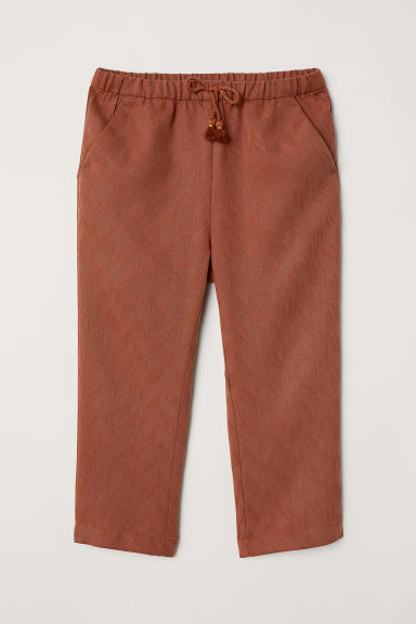 Jacquard-weave trousers - Brown - Kids | H&M CN