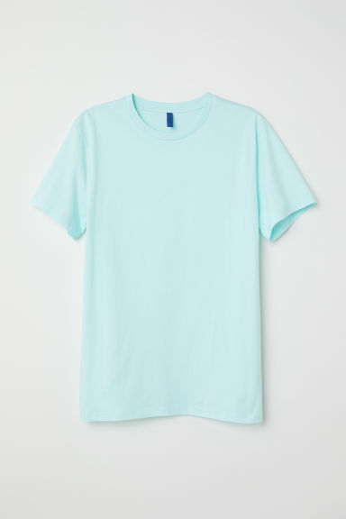 Round-necked T-shirt - Light turquoise - Men | H&M CN
