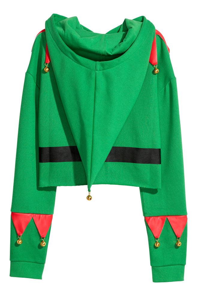 87d815fbf6 Kapucnis karácsonyi felső - Zöld - | H&M ...