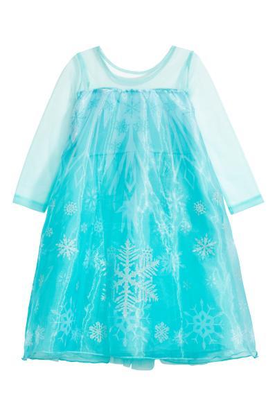 2be38ec1c661 Šaty pre princeznú - tyrkysová Ľadové kráľovstvo - DETI