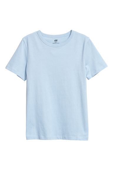 Cotton T-shirt - Ice blue - Kids | H&M CN