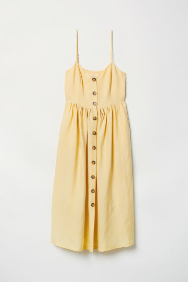 Dress with buttons - Light yellow - Ladies | H&M