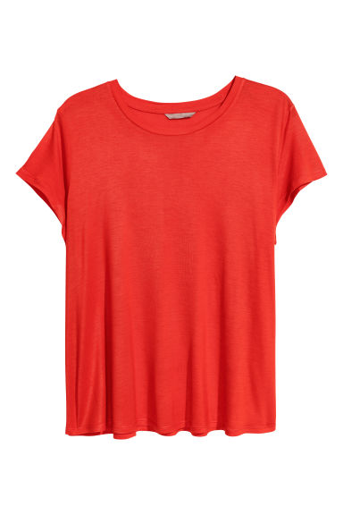 H&M+ Jersey top - Red - Ladies | H&M