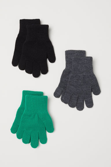 3-pack gloves - Green - Kids | H&M