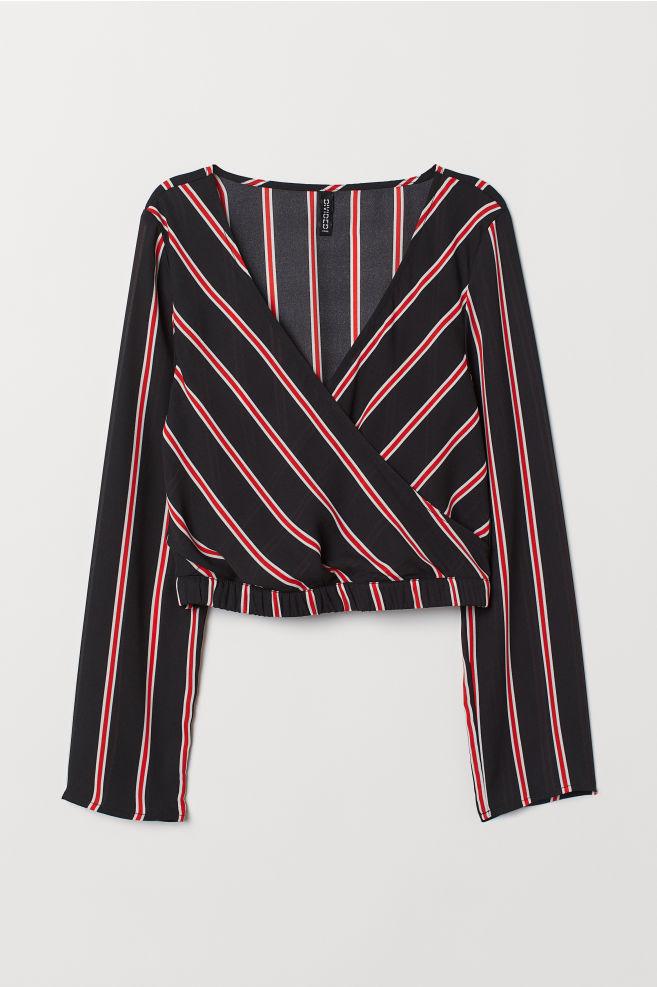 001a4a45 Krótka kopertowa bluzka