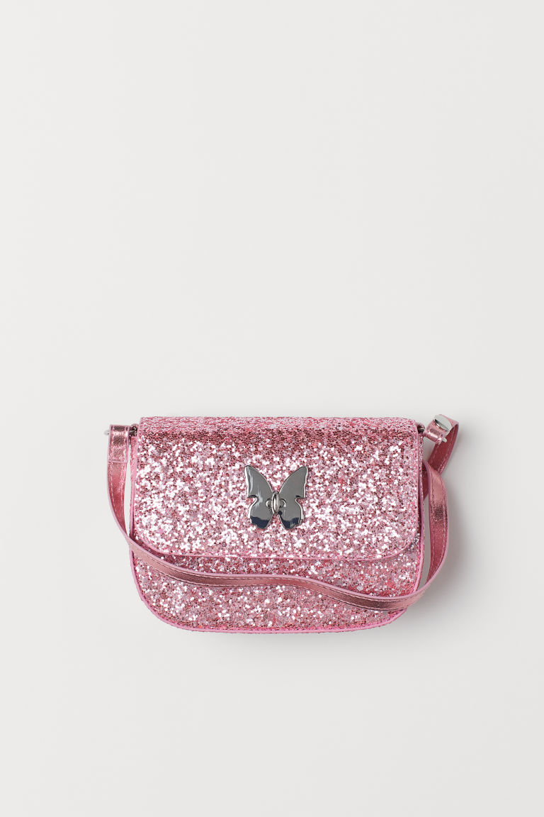 Glittery shoulder bag - Pink/Glittery - Kids | H&M