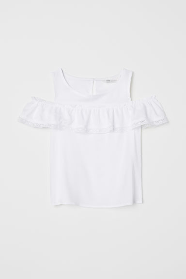 Cold shoulder top - White - Kids | H&M