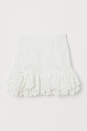 Flounced cotton skirtModel