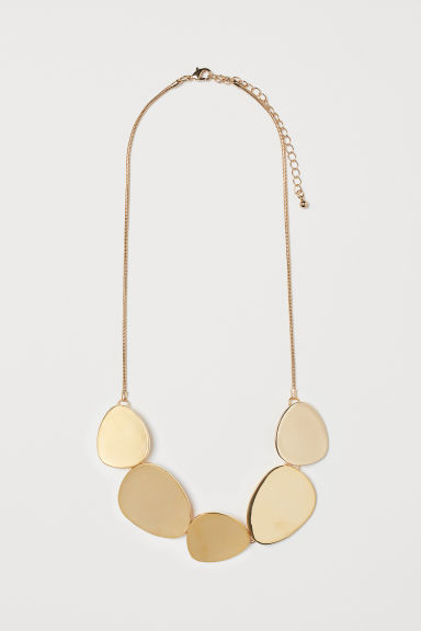 Necklace with metal discs - Gold-coloured - Ladies | H&M