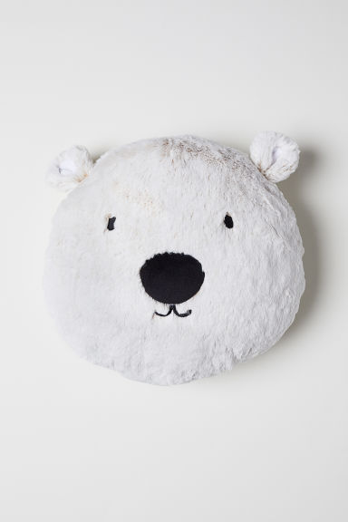 Cojín peluche - Blanco natural/Oso polar - HOME | H&M ES