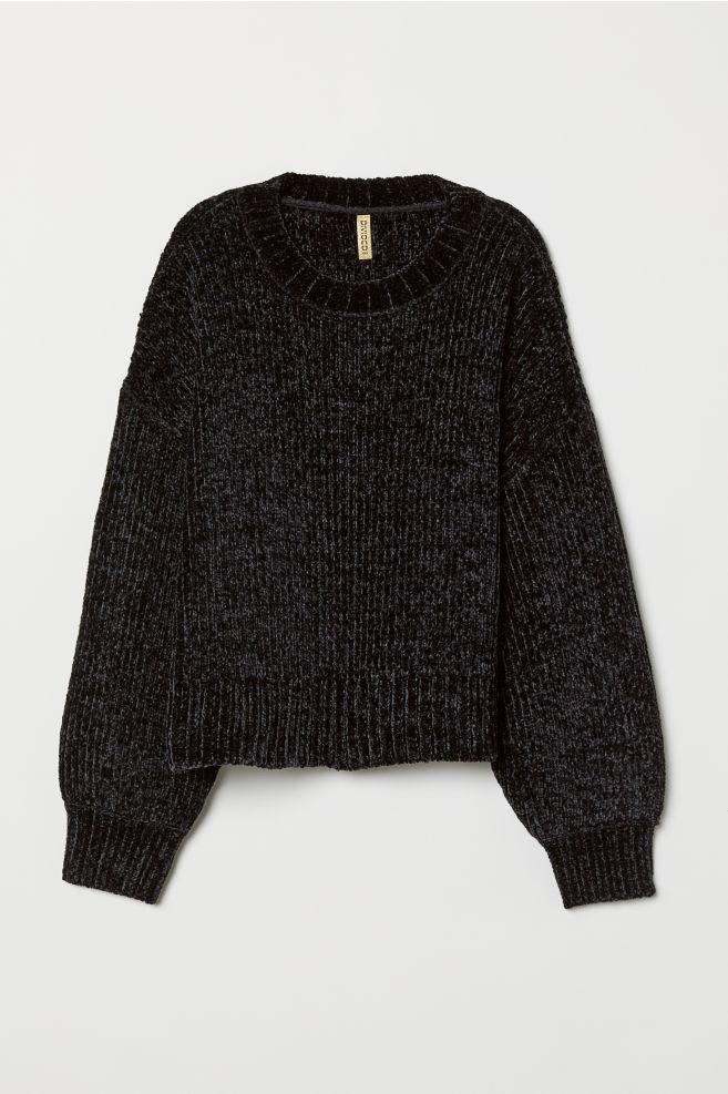 934f8eec3b Rib-knit Sweater - Black - Ladies