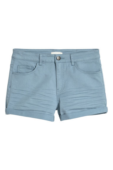 Twill shorts - Dusky blue - Ladies | H&M GB