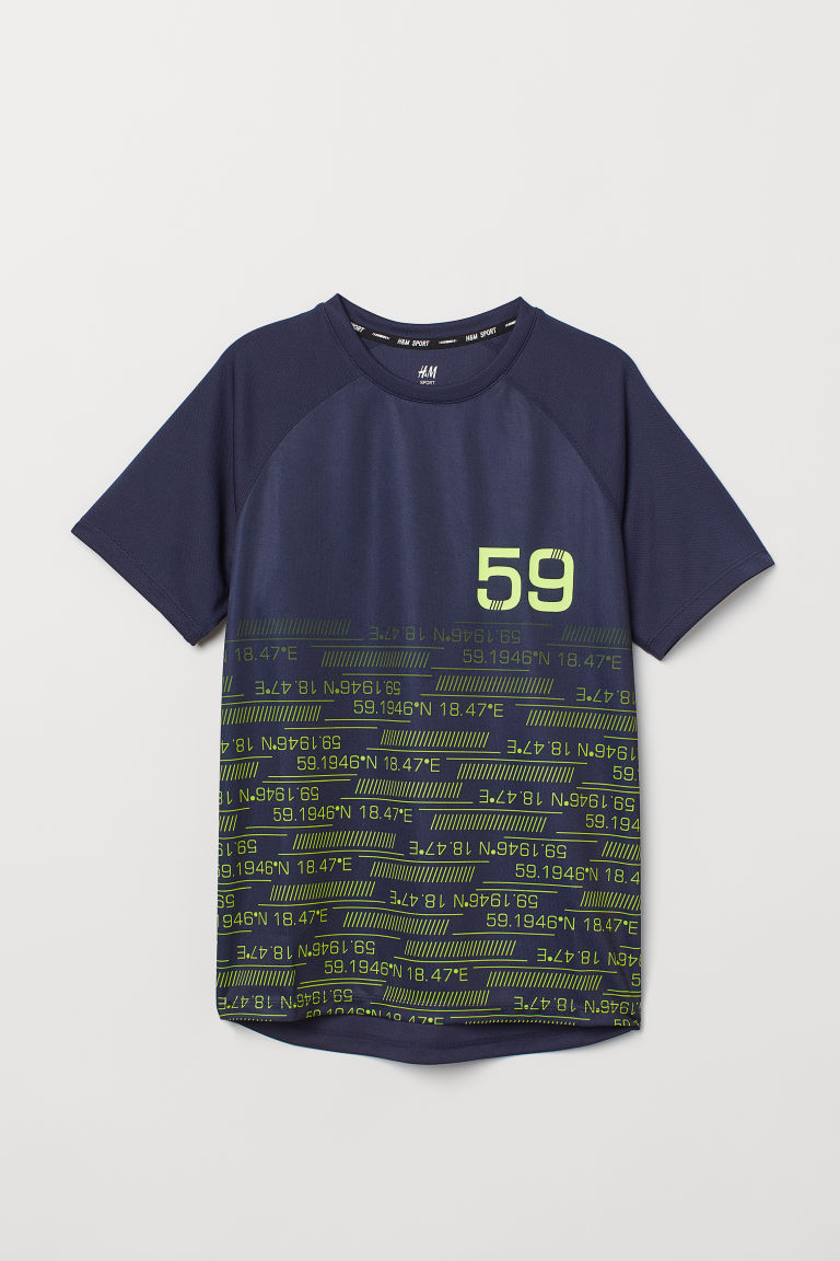 Sports top - Dark blue/59 - Kids | H&M