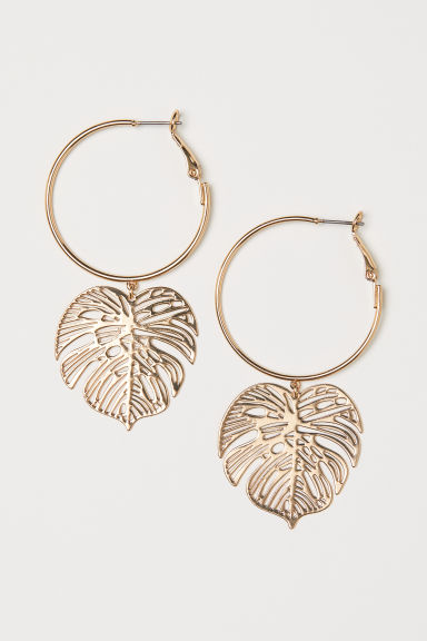 Earrings with pendants - Gold-coloured - Ladies | H&M