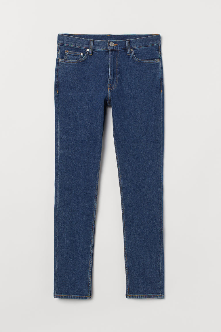 Slim Jeans - Denimblauw - HEREN | H&M BE