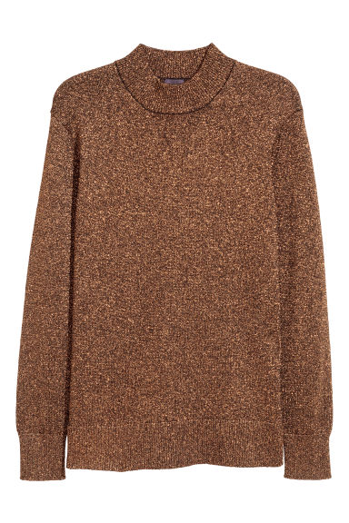 Glittery jumper - Copper-coloured - Men | H&M CN