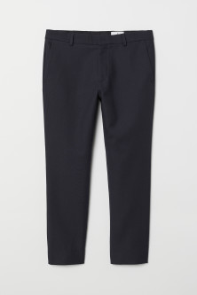 Ankle-length flannel trousers