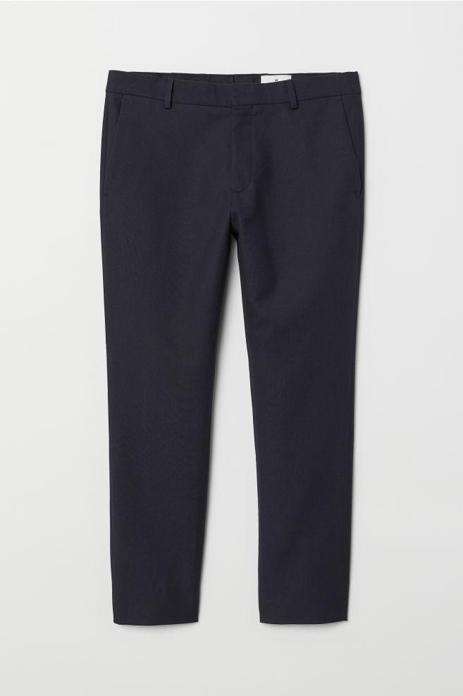 80e982459 Calças pelo tornozelo algodão - Azul escuro - HOMEM