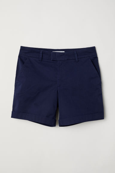 Short chino shorts - Dark blue - Ladies | H&M